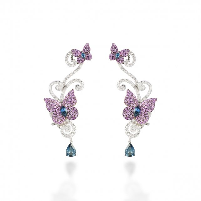 CARBONELL BUTTERFLY EARRING