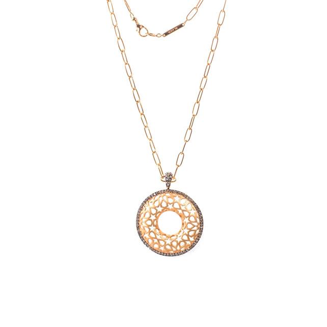 COGNAC DIAMOND STAR NECKLACE