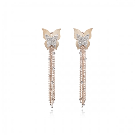 Cognac Diamond Butterfly Earring