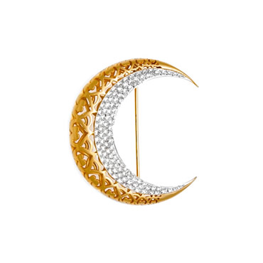 Crescent Brooch