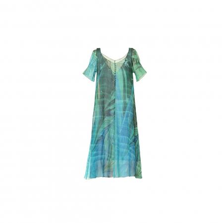 Ebru Desen İpek Elbise