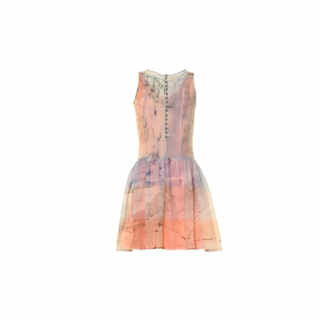 Ebru Patterned Sleeveless Wool Dress