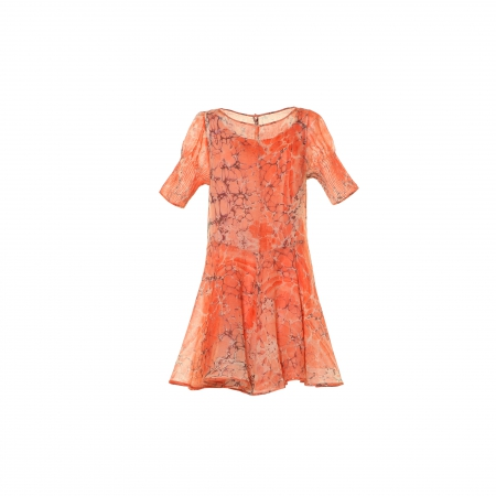 Ebru Patterned Wool Dress