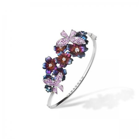 Pink Sapphire Butterfly Bracelet