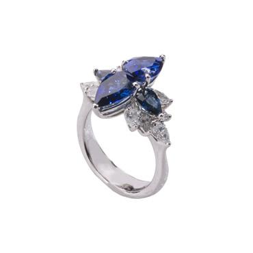 Sapphire Drop Ring