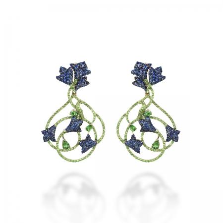Sapphire Fall Flower Earring