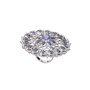 Sapphire & Tanzanite Ring