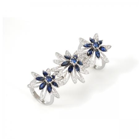 Sapphire Tragopogan Ring