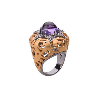 AMETIST RUMI RING