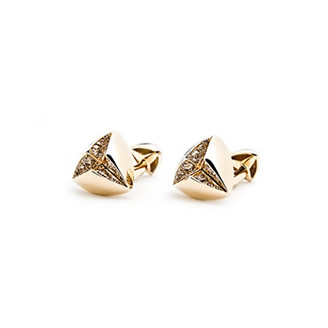 COGNAC DIAMOND STAR CUFFLINKS