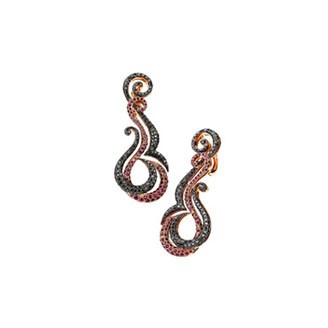 RUBY HELIX EARRINGS