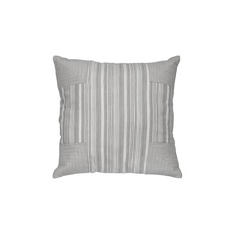 STRIPED PATCHY LINEN PILLOW